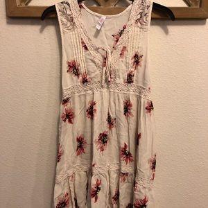 Target White Floral Peasant Dress
